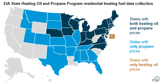 EIA state heating oil and propane program residential heating fuel data collection
